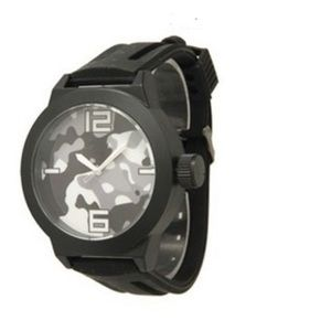 Other - New! Mens Grey/Black Camo Silicone Watch